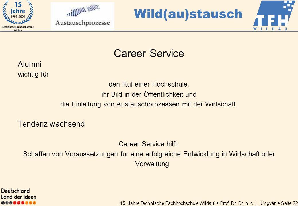 Wild(au)stausch Career Service Alumni Tendenz wachsend wichtig für