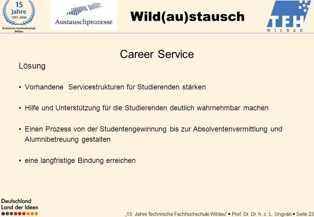Wild(au)stausch Career Service Lösung