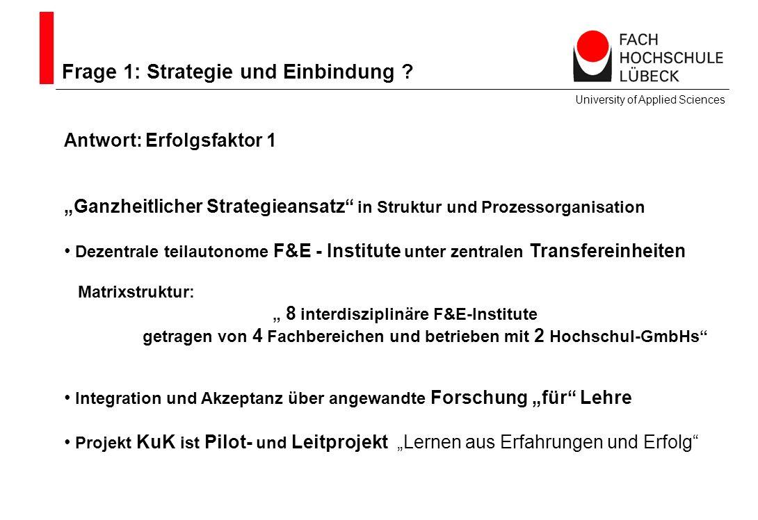Frage 1: Strategie und Einbindung