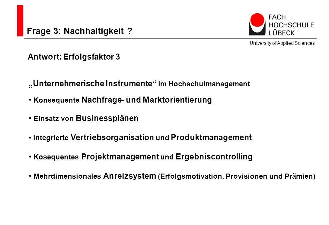 Frage 3: Nachhaltigkeit