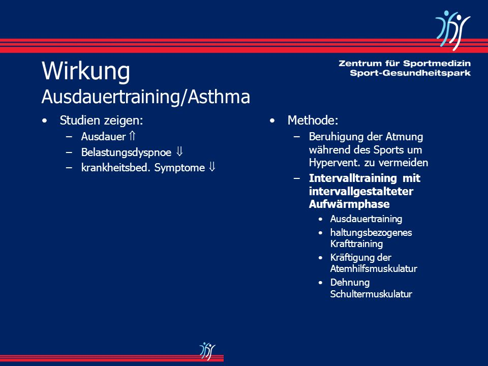 Wirkung Ausdauertraining/Asthma
