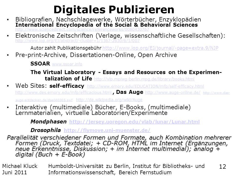 Digitales Publizieren