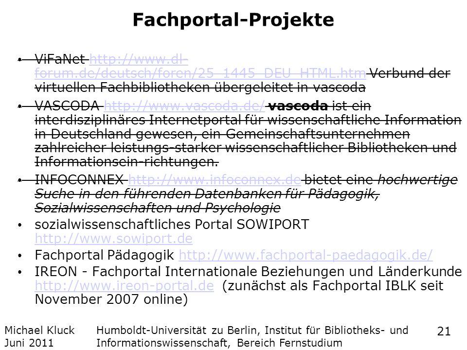 Fachportal-Projekte