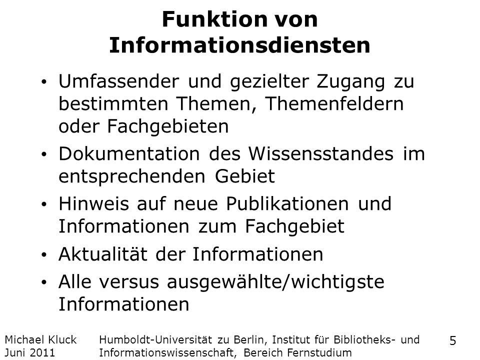 Funktion von Informationsdiensten