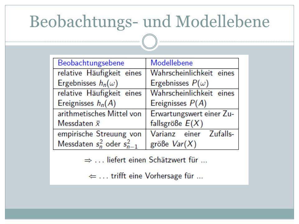 Beobachtungs- und Modellebene