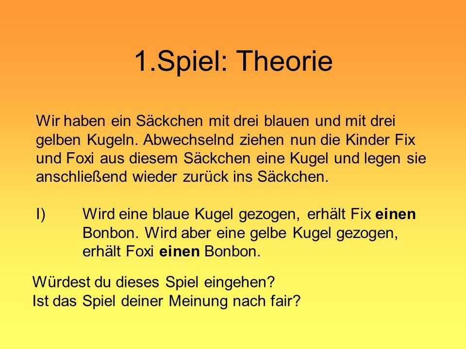 1.Spiel: Theorie