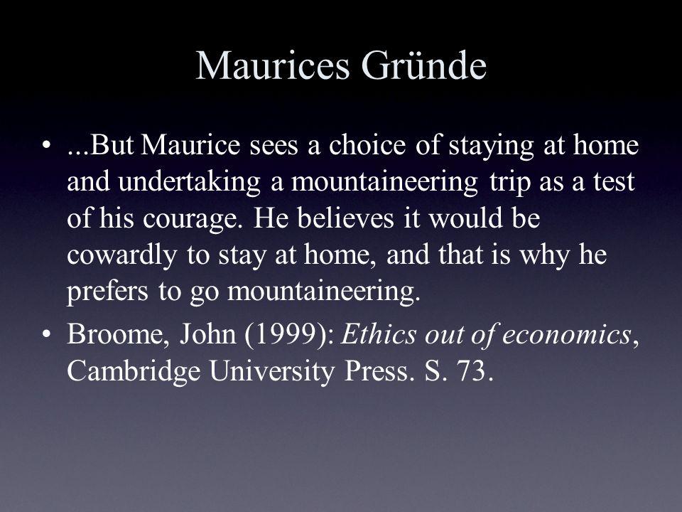 Maurices Gründe