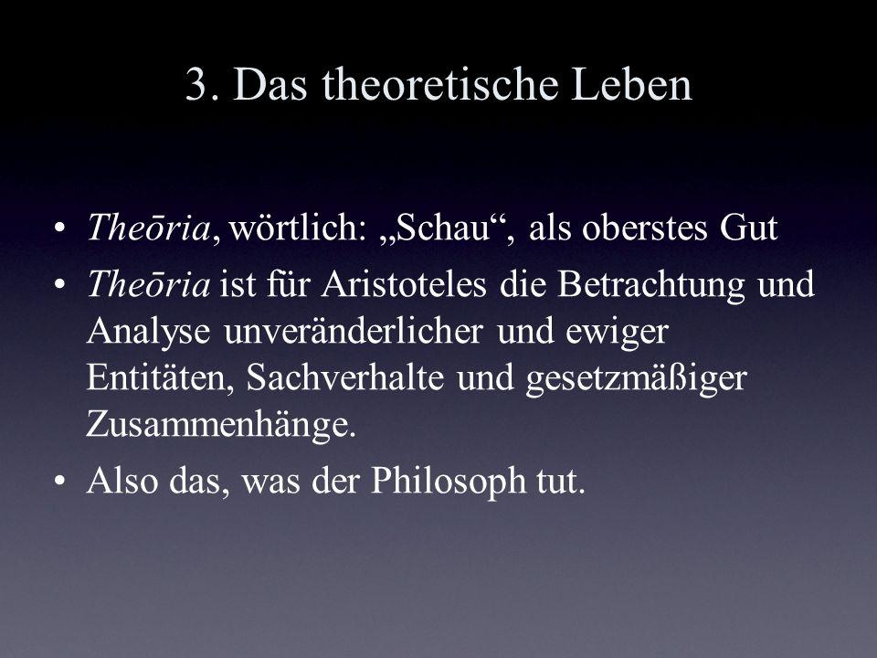 3. Das theoretische Leben