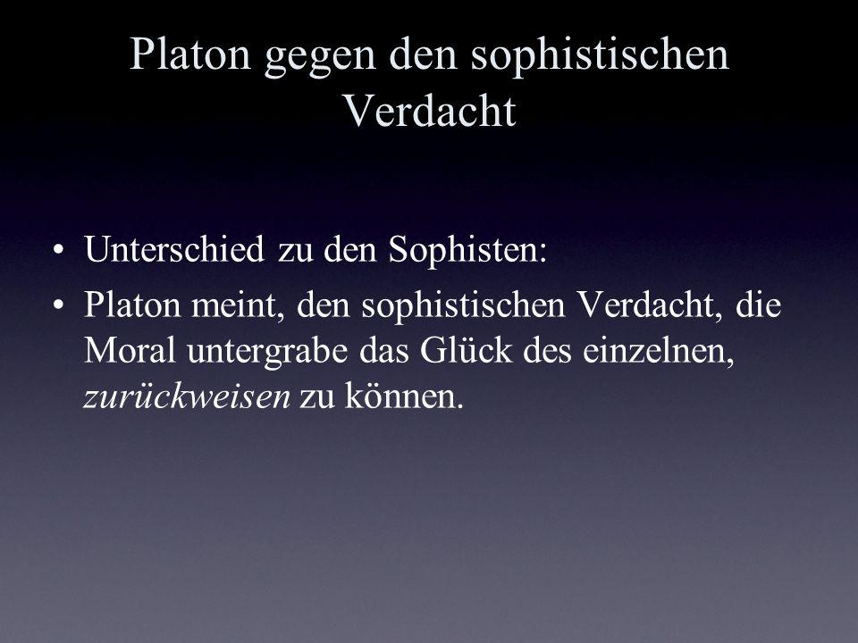 Platon gegen den sophistischen Verdacht