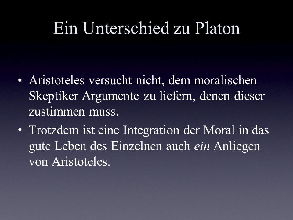 Ein Unterschied zu Platon