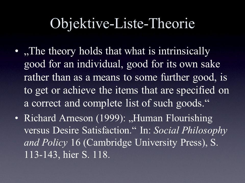Objektive-Liste-Theorie