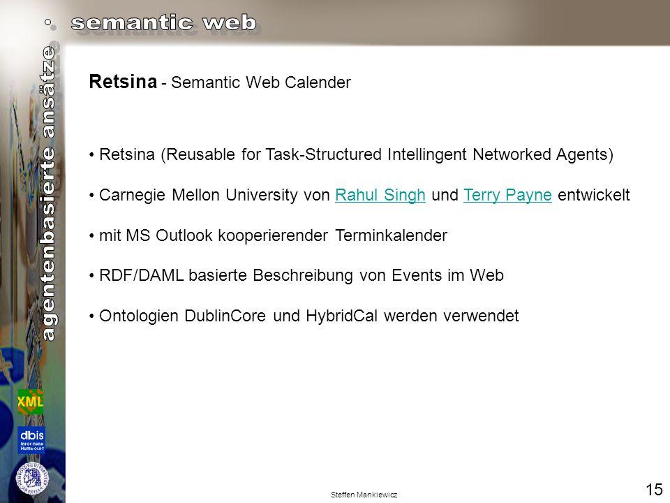 Retsina - Semantic Web Calender