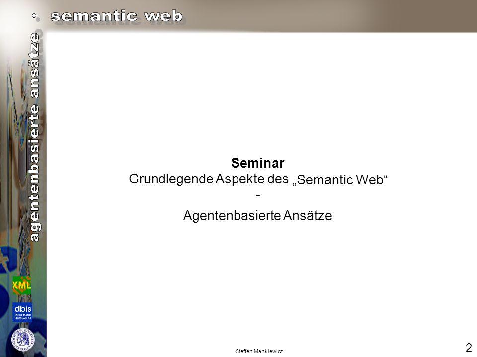 "Grundlegende Aspekte des - ""Semantic Web"