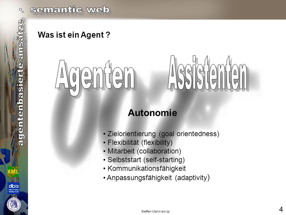 Assistenten Agenten Autonomie Was ist ein Agent