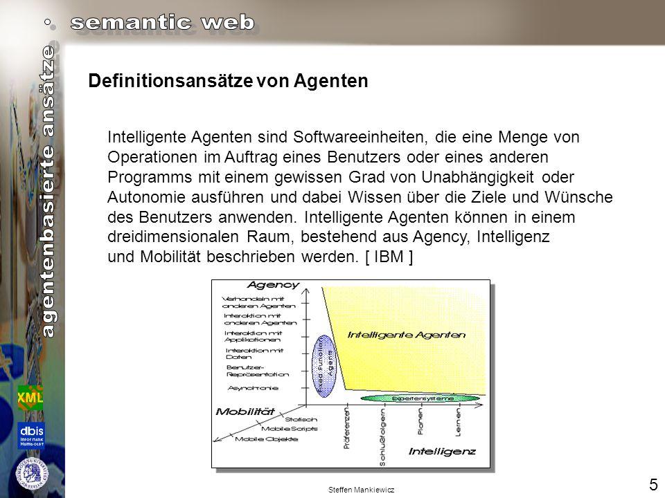 Definitionsansätze von Agenten