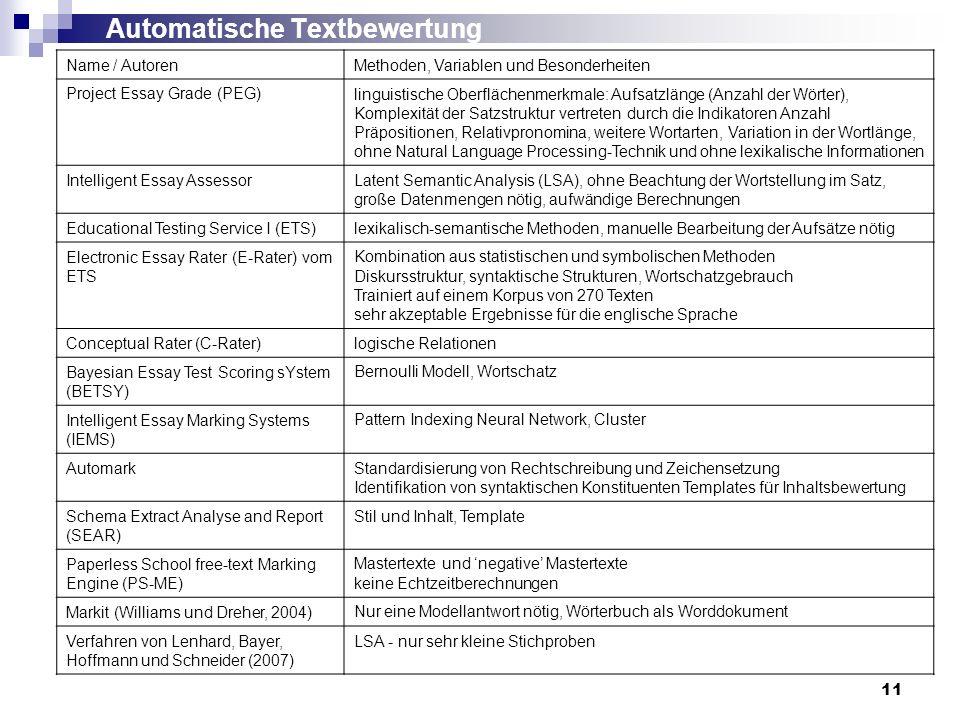Automatische Textbewertung