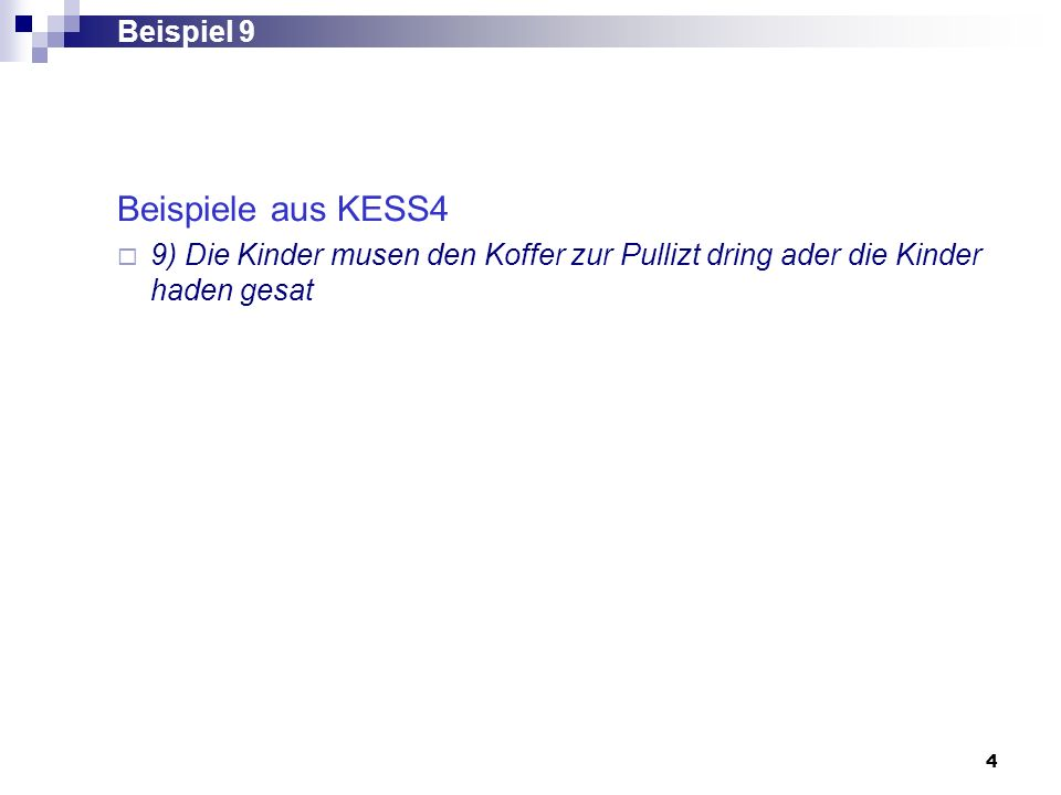 Beispiele aus KESS4 Beispiel 9