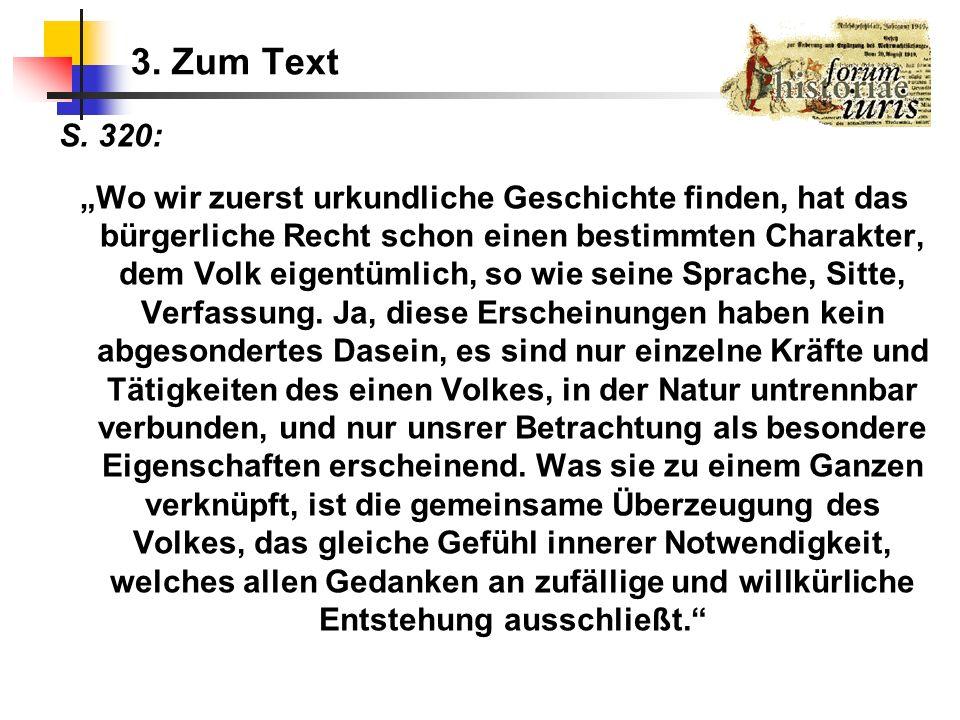 3. Zum Text S. 320: