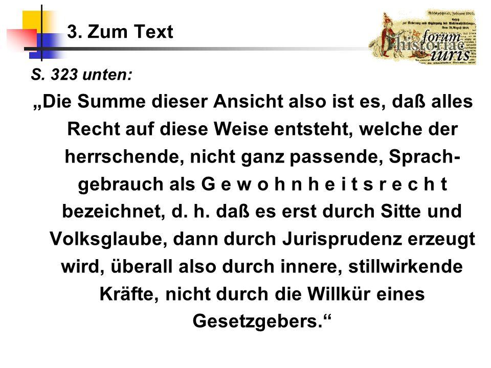 3. Zum Text S. 323 unten: