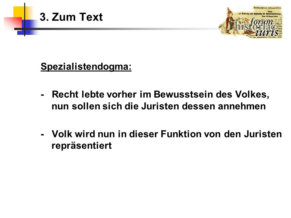 3. Zum Text Spezialistendogma: