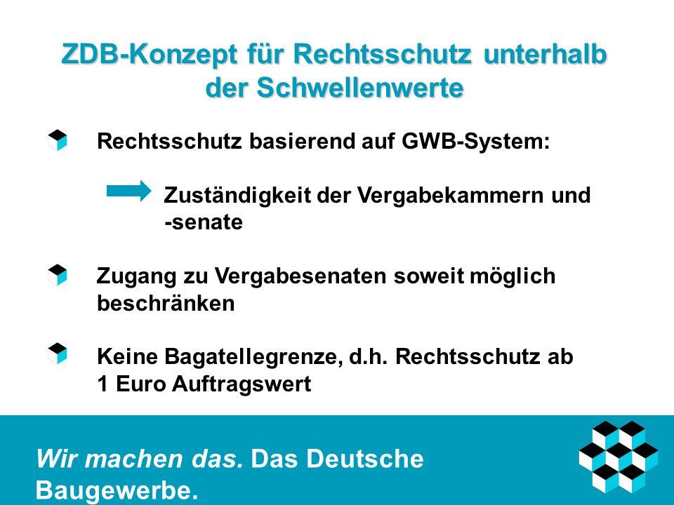 ZDB-Konzept für Rechtsschutz unterhalb der Schwellenwerte