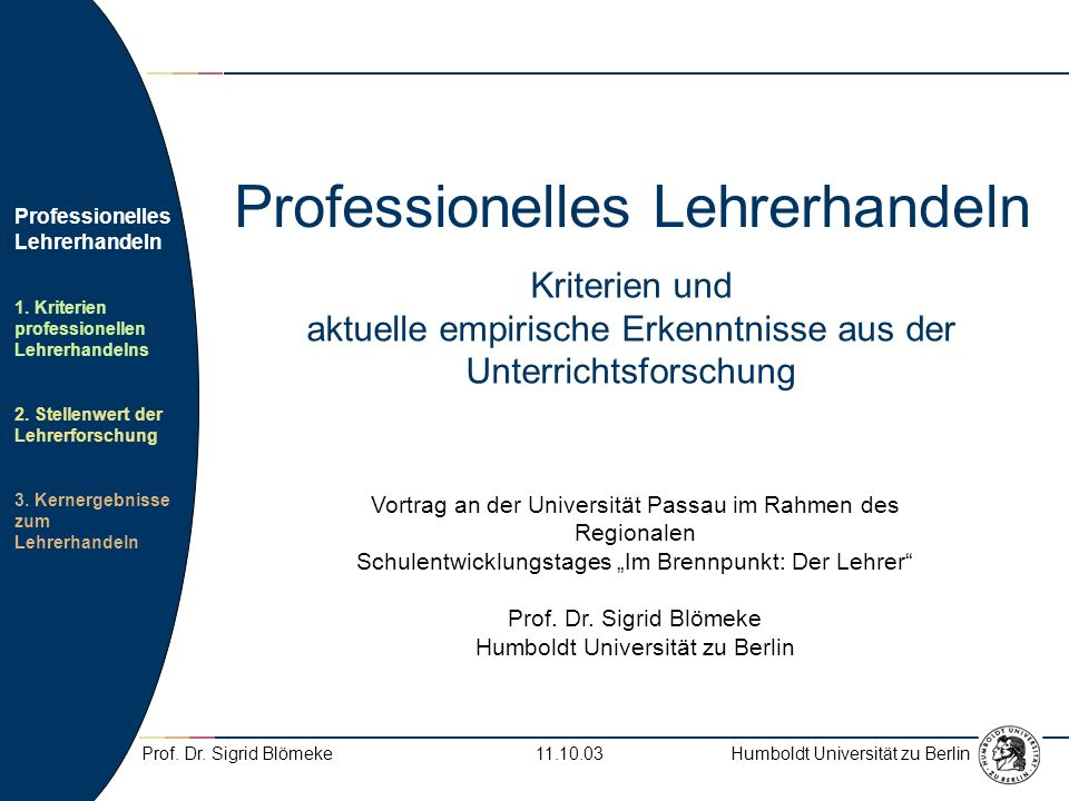 Professionelles Lehrerhandeln