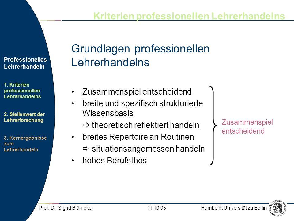 Grundlagen professionellen Lehrerhandelns