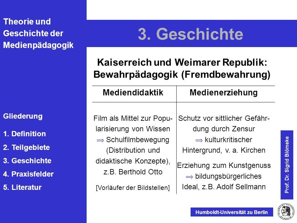 Kaiserreich und Weimarer Republik: Bewahrpädagogik (Fremdbewahrung)