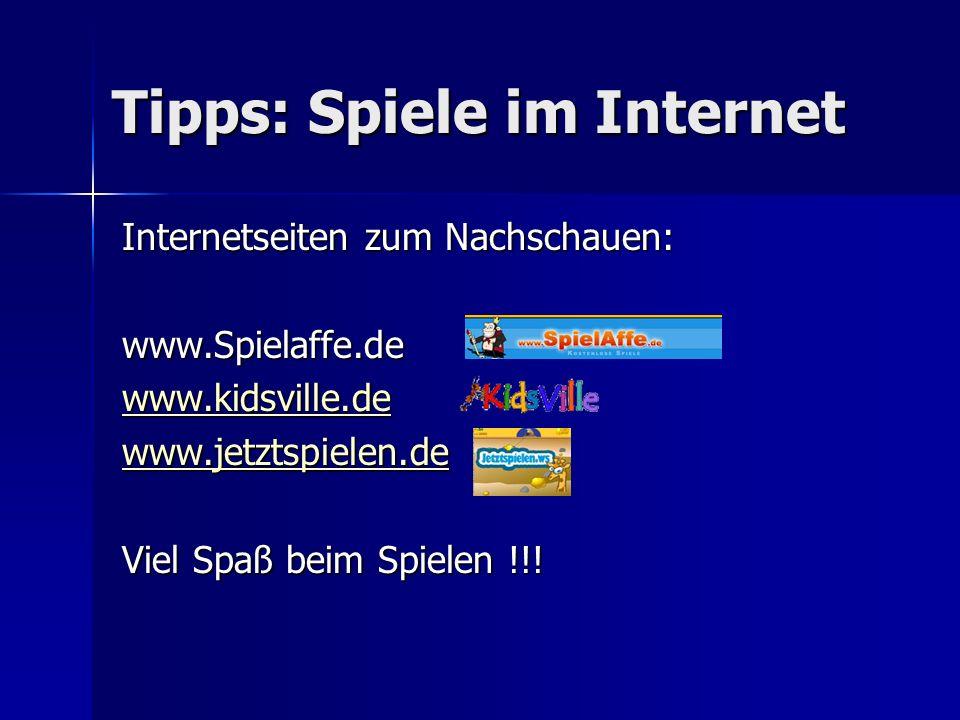 Tipps: Spiele im Internet