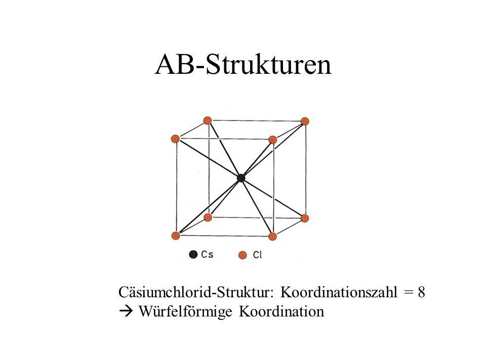 AB-Strukturen Cäsiumchlorid-Struktur: Koordinationszahl = 8