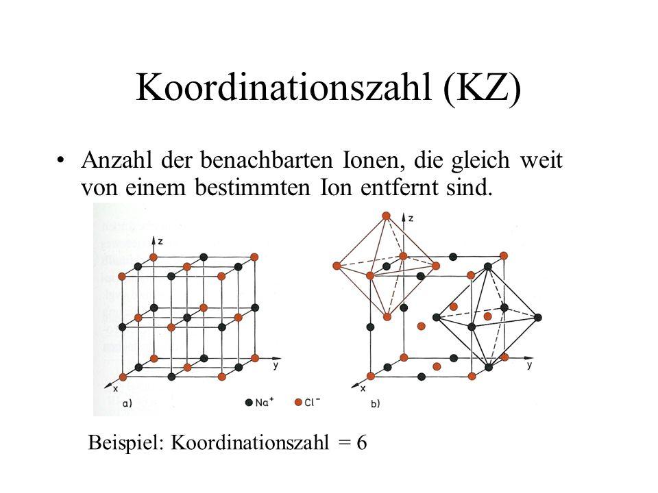 Koordinationszahl (KZ)