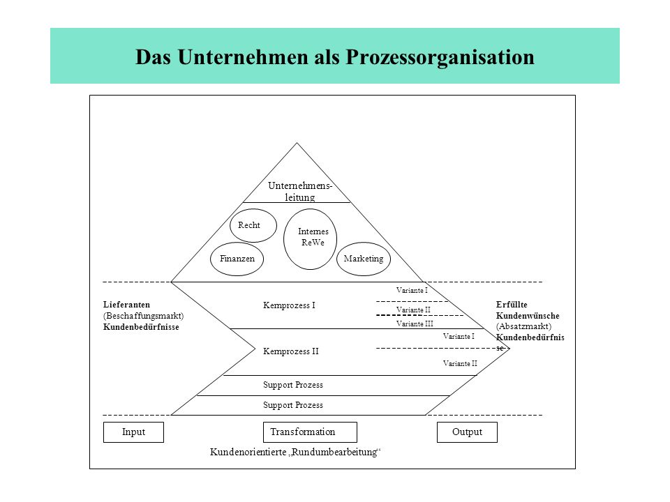 Das Unternehmen als Prozessorganisation