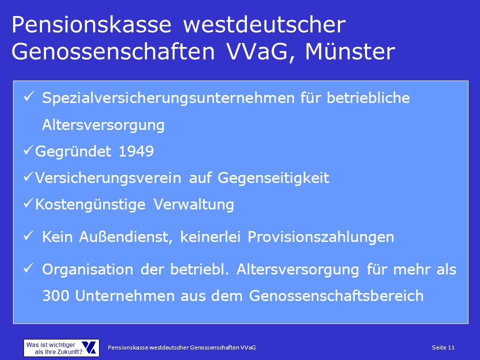 Pensionskasse westdeutscher Genossenschaften VVaG, Münster