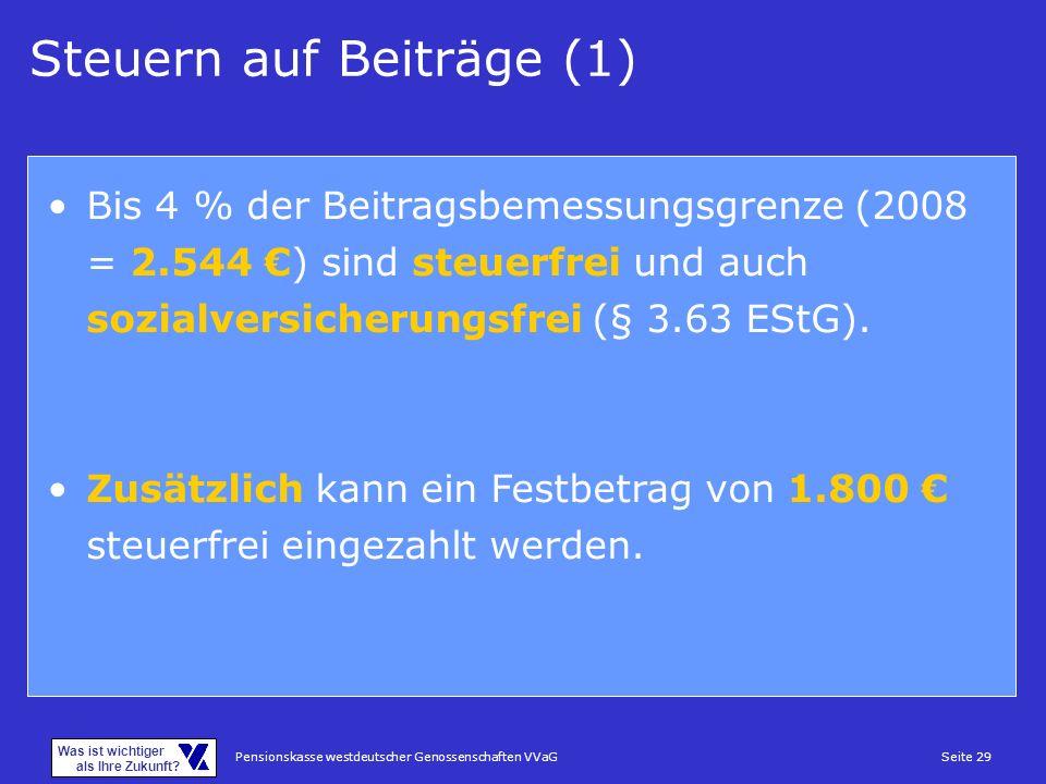 Steuern auf Beiträge (1)