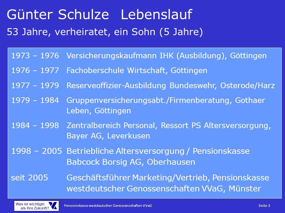 Günter Schulze Lebenslauf 53 Jahre, verheiratet, ein Sohn (5 Jahre)