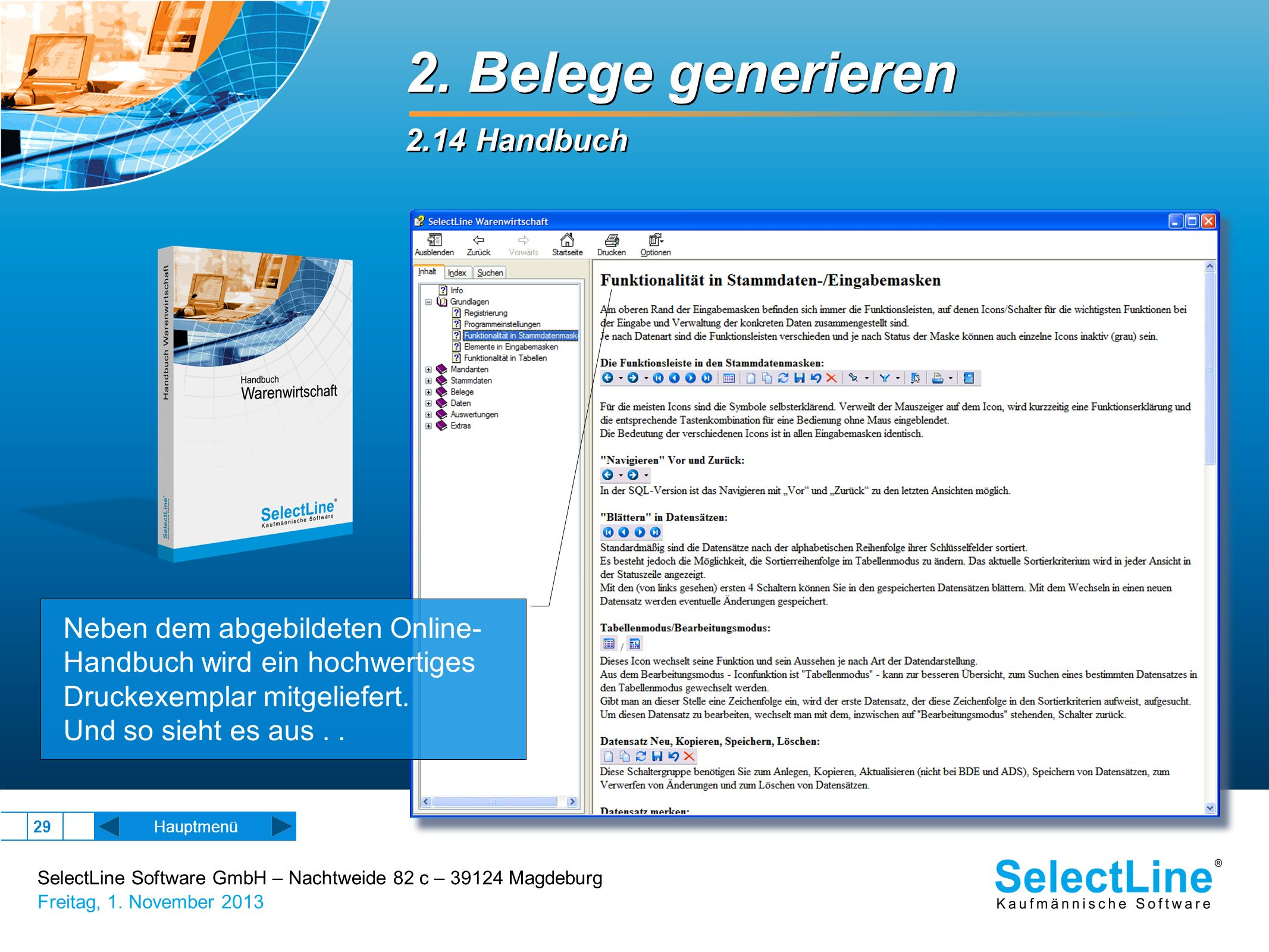 2. Belege generieren 2.14 Handbuch