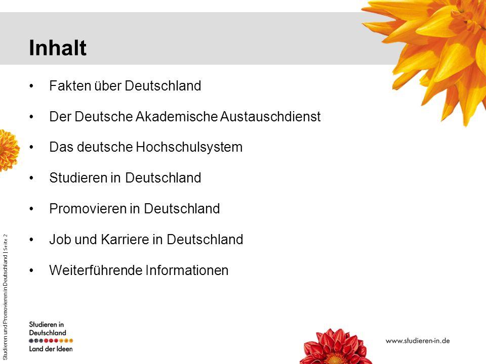 Inhalt Fakten über Deutschland