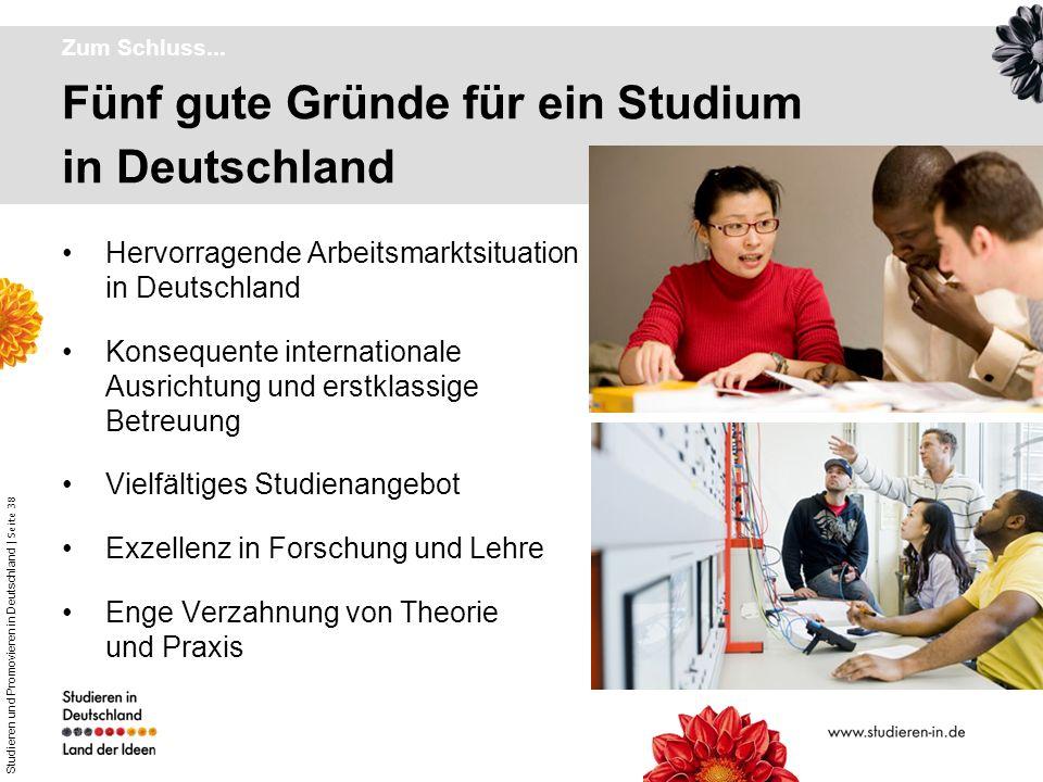 Fünf gute Gründe für ein Studium in Deutschland