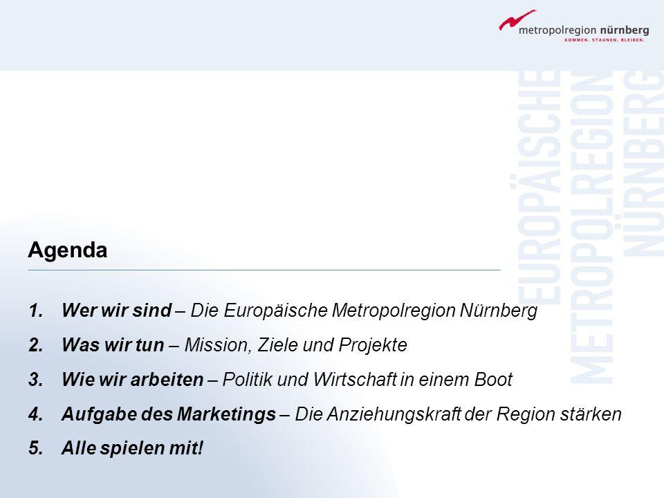 Agenda Wer wir sind – Die Europäische Metropolregion Nürnberg