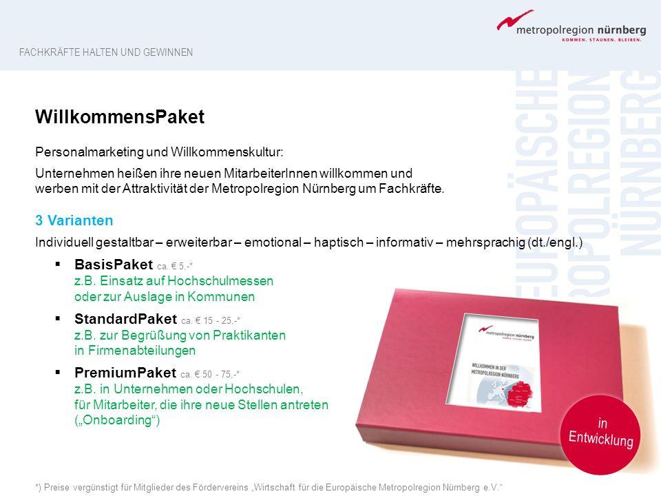WillkommensPaket 3 Varianten