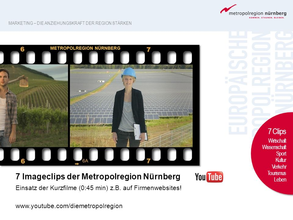 7 Imageclips der Metropolregion Nürnberg