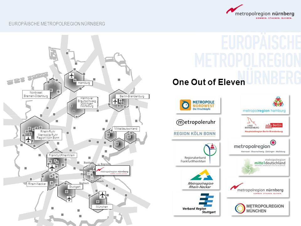 One Out of Eleven Europäische Metropolregion Nürnberg