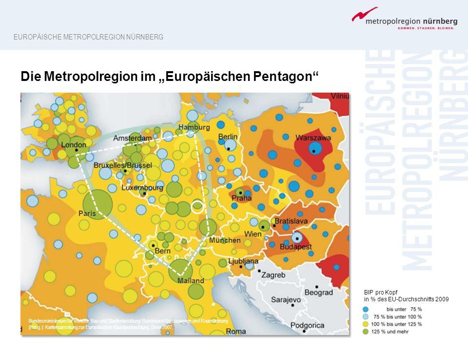 """Die Metropolregion im """"Europäischen Pentagon"""