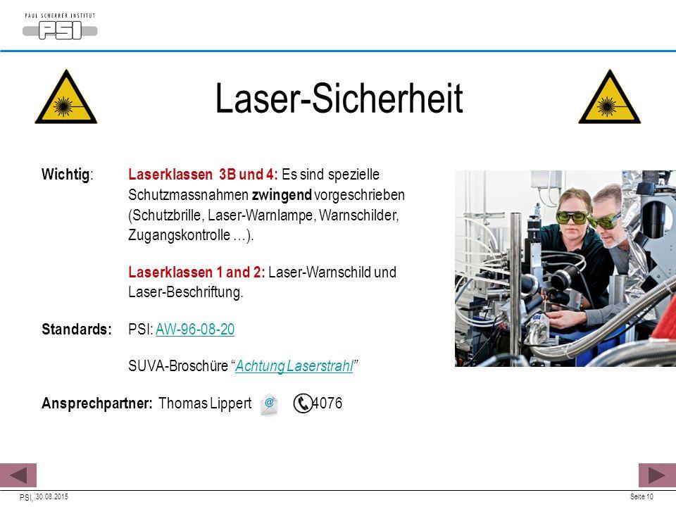 Laser-Sicherheit