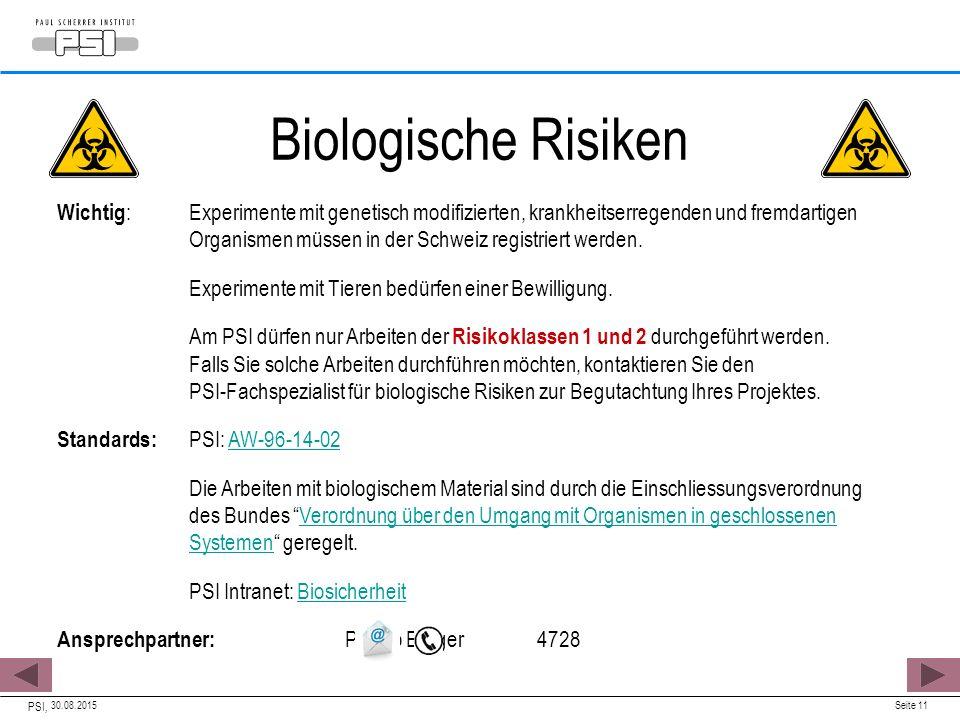 Biologische Risiken