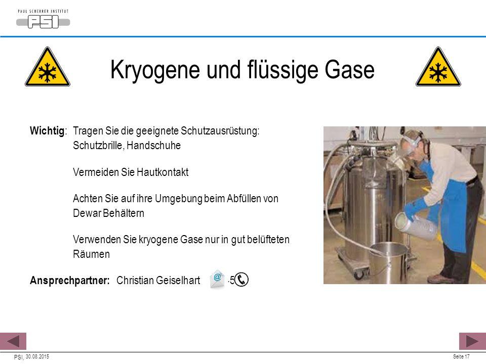 Kryogene und flüssige Gase