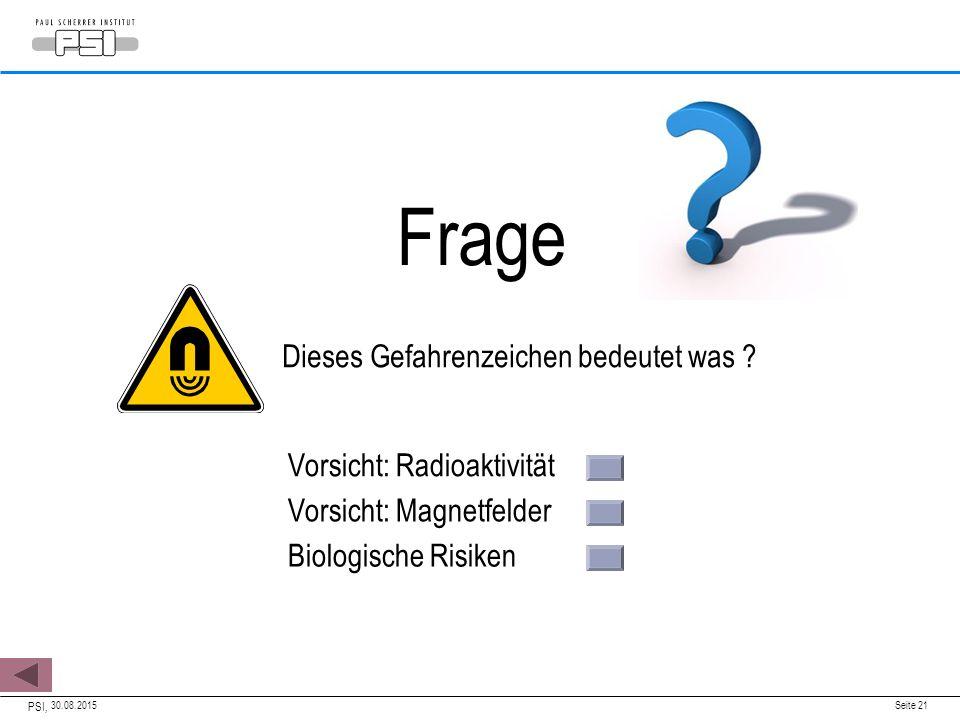 Frage Dieses Gefahrenzeichen bedeutet was Vorsicht: Radioaktivität