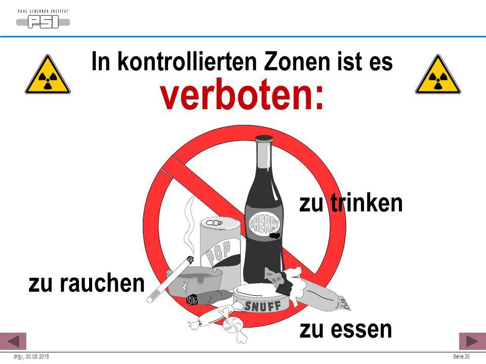 In kontrollierten Zonen ist es verboten: