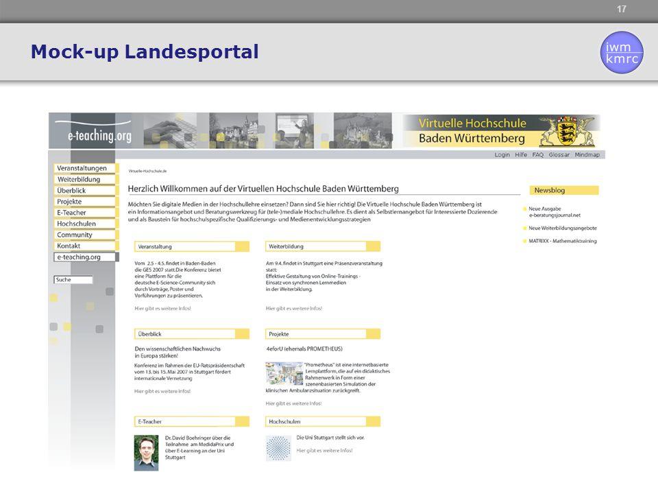 Mock-up Landesportal
