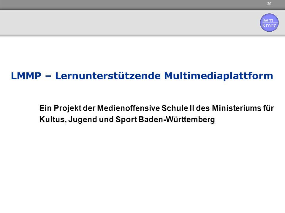 LMMP – Lernunterstützende Multimediaplattform